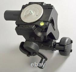 Manfrotto 400 Super Heavy Duty Gear QR Tripod Head with QR Plate Excellent Used