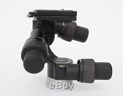 Manfrotto 405 3-Way Geared Pan &Tilt Tripod Head With 2x 410PL Quick Release Plate