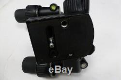 Manfrotto 405 3 way pan head with quick release plate Used