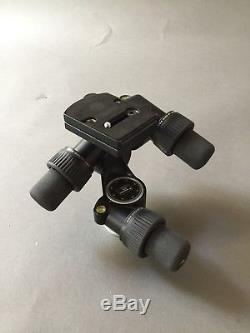 Manfrotto 405 Geared Pro Tripod Head with Quick Release Plate