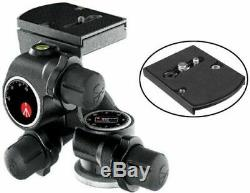 Manfrotto 410 Junior Geared Tripod Head and a Bonus Ivation Quick Release Plate