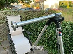 Manfrotto 455/JG19 3 section aluminium tripod in natural metal finish