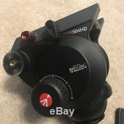 Manfrotto 504HD Fluid Head With Handle And Plate Barely Used