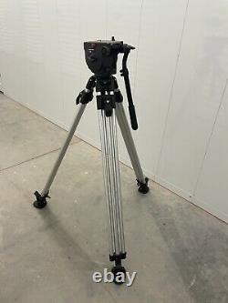 Manfrotto 516 Pro Fluid Head + 3181 Tripod (75mm Ball) Pan Arm & QR Plate