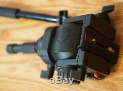 Manfrotto 519 Pro CINE/Video Fluid Head with Pan Arm & New QR Plate- NEAR MINT