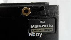 Manfrotto 525MVB/MH02 Tripod with 501 Video Head and Quick Release Plate Used
