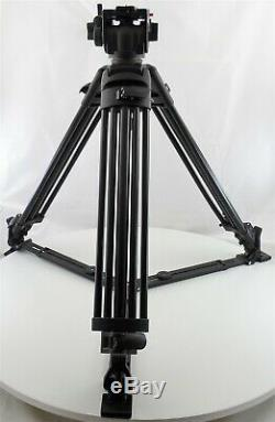 Manfrotto 525MVB Tripod with 501 Fluid Video Head, 501LVN, 501PL Plate and Case