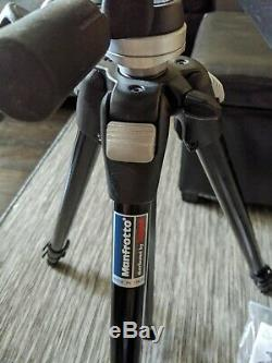 Manfrotto Bogen 3021BN Tripod With 3030 Manfrotto Bogen Head Plate Mint