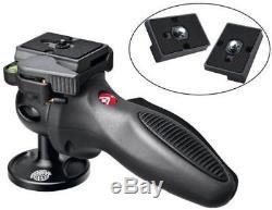 Manfrotto Light Grip Joystick Tripod Ball Head 324RC2 + 2 Quick Release Plates
