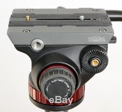 Manfrotto MVH502AH fluid video head with quick release plate, box & instructions