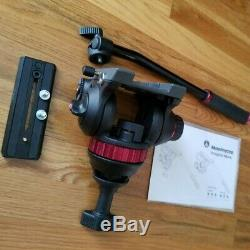 Manfrotto MVH502A Camera Fluid Head 75mm Half Ball Dovetail Plate Tripod Handle