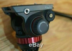 Manfrotto MVH502A Pro Video Head with 75mm Half-Ball, 502HD- NICE! NEW PLATE