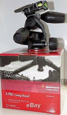Manfrotto Mhxpro-3w 3-way Tripod Head + 200-pl14 Quick Release Plate Box/unused