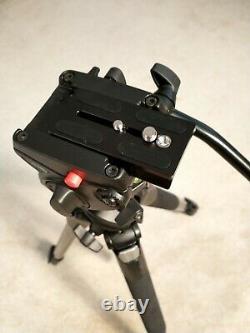 Manfrotto Photo Video Tripod 055XPROB legs & 701HDV Head and New Tripod Plate