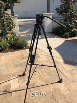 Manfrotto Professional 351MVB2K Tripps + 501HDV Head + plate + Case