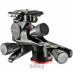 Manfrotto XPRO Geared Three-Way Pan/Tilt Tripod Head Quick Release Plate