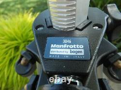 Manfrotto -bogen #3046 Professional Tripod Incl. 3063 Fluid-head & Plate / Minty