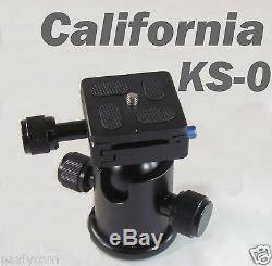 Metal Ball Head KS-0 Quick release Plate for Monopod Tripod Benro/Manfrotto KS0