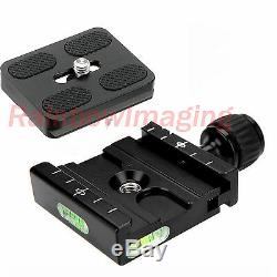 Metal Clamp & 50mm Quick Release Plate for Manfrotto Arca-Swiss Tripod Ball Head