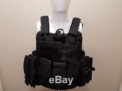 Military Quick-Release Level IIIA Ballistic Body Armor with Plate Pockets L