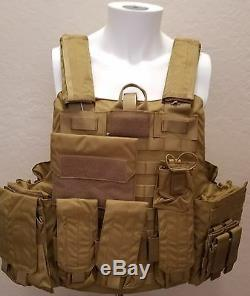 Military Quick-Release Level IIIA Ballistic Body Armor with Plate Pockets XXL