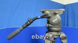 Miller Arrow 30 Fluid Head with TT-66L 3-Stage Aluminum Tripod, 1 Handle, Plate