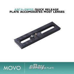 Movo GH700 Professional Gimbal Tripod Head with Arca-Swiss Quick-Release Plate