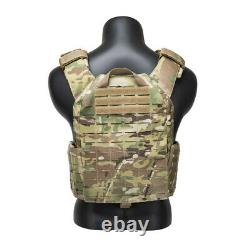 Multicam Plate Carrier Tactical Vest- Laser Cut Molle- Quick Release- Airsoft CP
