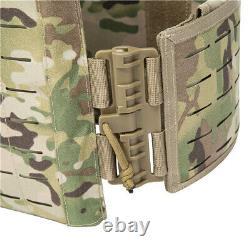 Multicam Plate Carrier Tactical Vest- Laser Cut Molle- Quick Release- Airsoft CP