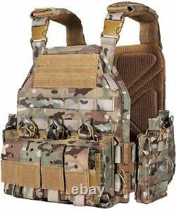 Multicam Plate Carrier Vest Quick Release Tactical Molle