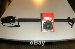 NEW Manfrotto Lot 685B Monopod and 625L Quick Change Hex Plate Adapter/Release