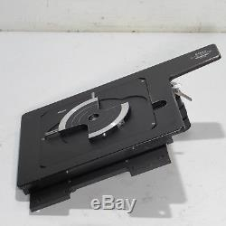 NIKON 6X6 TRAVEL STAGE With QUICK RELEASE & WAFER PLATE FOR OPTIPHOT MICROSCOPES