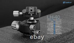 NO Box, Leofoto LH-40 40mm Tripod Head Low Profile Double Notch with Plate