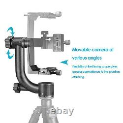 Neewer Heavy Duty Carbon Fiber Gimbal Tripod Head with Quick Release Plate