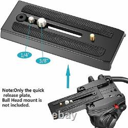 Neewer Rapid Connect Quick Release Sliding Plate Camera Mount with 1/4 and 3/8