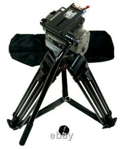 O'CONNOR 1030B SACHTLER 5386 CF CARBON GRSPR TRIPOD SYS PLATE BAG SERVICED 39Lbs