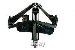 O'CONNOR 1030B SACHTLER 5386 CF CARBON GRSPR TRIPOD SYS PLATE BAG SERVICED 39Lbs