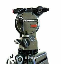 O'CONNOR 1030 HEAD TELESCOPIC PAN BAR TD KNOB PLATE ADAPTER MINT SERVICED 39 Lbs