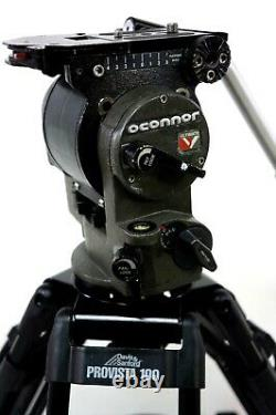O'Connor DV ULTIMATE HEAD CF CARBON FIBER TRIPOD SYSTEM BAG PLATE SERVICED 32Lbs