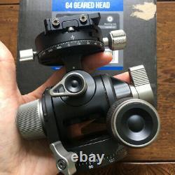 Open Box, Leofoto G4 Panoramic Geared Head Professional Head Tripod w QR Plate