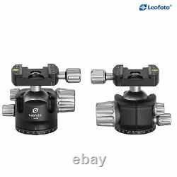 Open Box, Leofoto LH-40 40mm Ball Head Low Profile Double Notch with Plate