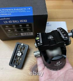 Open box Leofoto LH-40 Low Profile Ball Head with Quick Release Plate Boxed