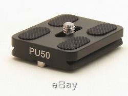 PU-50 Quick Release Plate Sirui MefotoTripod Ballhead Arca Swiss PU50 1/4