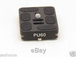 PU-60 Quick Release Plate Tripod ball head Arca Swiss QR 60mm x 38mm Camera