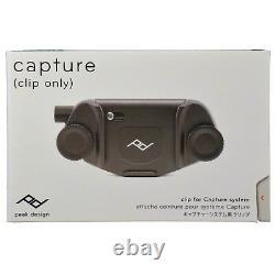 Peak Design Capture V3 Camera Clip NO PLATE CC-BK-3 Black CLIP ONLY NEW 2017
