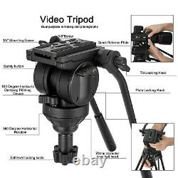 Professional Video Tripod Fluid Drag Hydraulic with Manfrotto plate for Camera