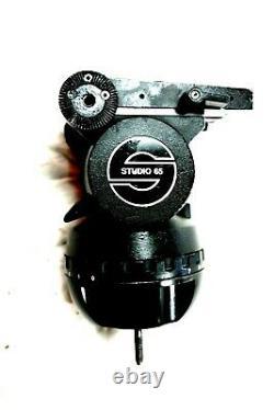 SACHTLER 150mm HEAD STUDIO 65 TEL PAN BAR PLATE TIE DOWN AIR BOX SERVICED 110Lbs
