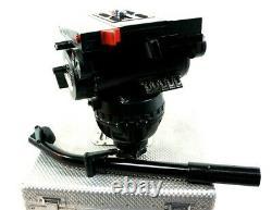 SACHTLER FLUID HEAD STUDIO 80 MK II TEL-BAR PLATE TIE DOWN EXTRA$ SERVICED 200Lb