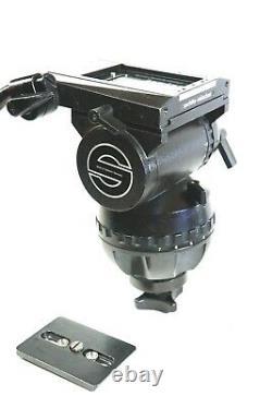 SACHTLER FLUID HEAD STUDIO II VIDEO 30-4S BAR PLATE TIE DOWN BOX SERVICED 110Lbs