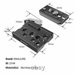 SMALLRIG Quick Release Clamp and Plate for Arca Swiss Standard 2144